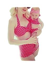 Baby Girl Vintage Polka Dot Bikini Swimsuit Sets Family Matching Mother Girl Swimwear