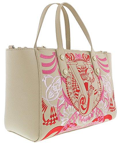 Versace EE1VRBBRA Ligt Brown Tote Bag W/detachable and adjustable strap for Womens