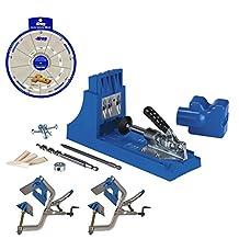 Kreg Jig K4 Pocket Hole System, (2) KHC-90DCC Corner Clamps, Screw Selector