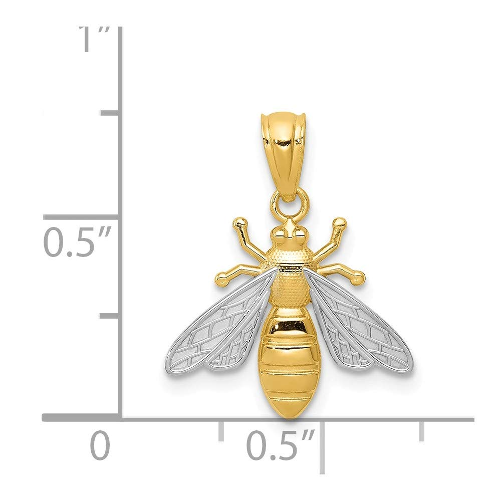 14k /& Rhodium Bee Pendant