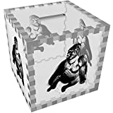 'Sitting Gorilla' Clear Money Box / Piggy Bank (MB00030696)