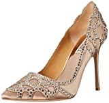Badgley Mischka Women's Rouge Dress Pump, Latte, 10 M US