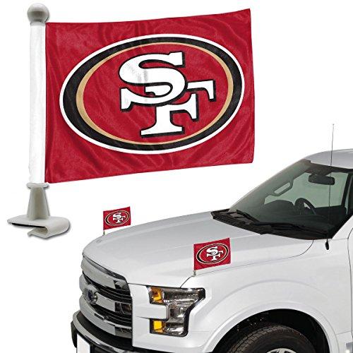 ProMark NFL San Francisco 49Ers Flag Set 2Piece Ambassador Stylesan Francisco 49Ers Flag Set 2Piece Ambassador Style, Team Color, One Size ()