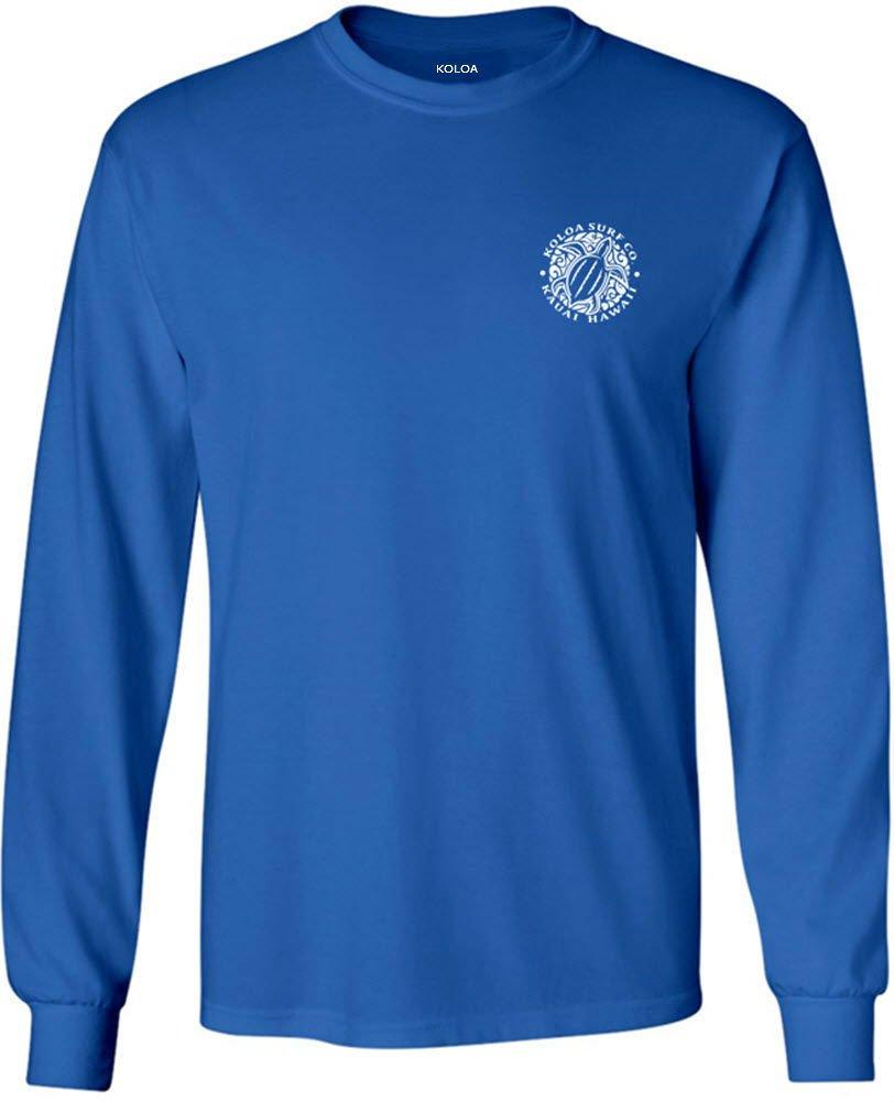 Koloa Surf(tm) Hawaiian Turtle Logo Long Sleeve T-Shirt-Royal-L
