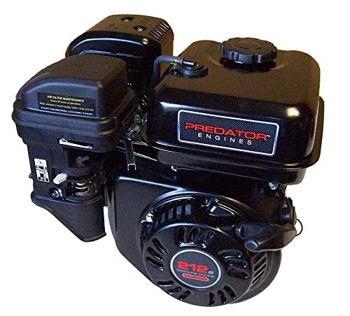 Predator 6.5 HP 212cc OHV Horizontal Shaft Gas Engine - NOT Certified for California; Fuel Shut Off and Recoil Start (6 Hp Engine)