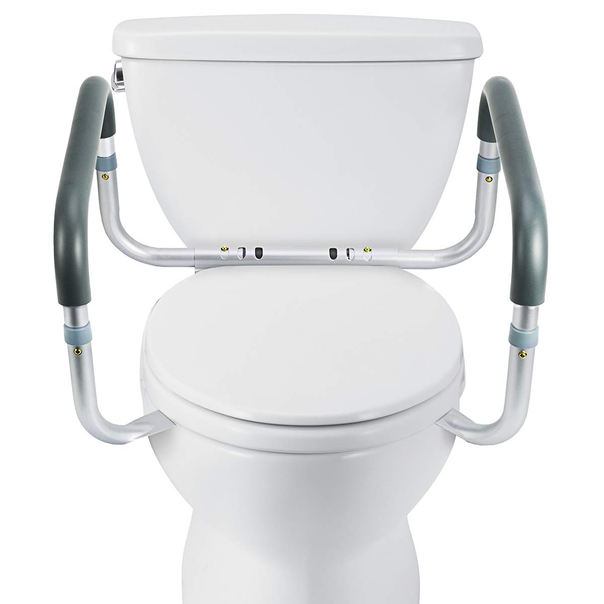 OasisSpace Medical Toilet Safety Frame - Adjustable Compact Support Hand Rails for Bathroom Toilet Seat - Easy Installation for Handicap Senior Bariatrics & Elderly by OasisSpace