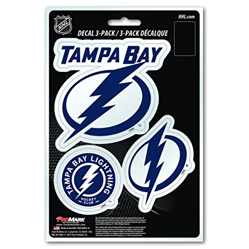 (NHL Tampa Bay Lightning Team Decal, 3-Pack)