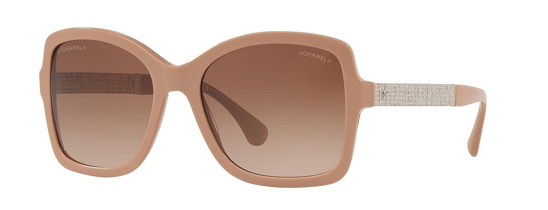 Sunglasses Chanel CH5383 16203B ivory sunglasses for women 55MM   Amazon.co.uk  Clothing 7f232411fe85