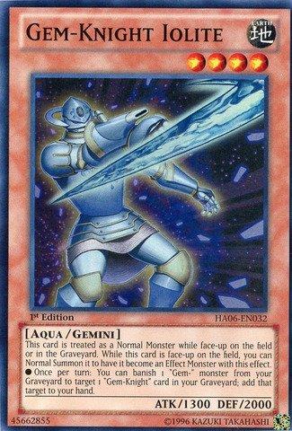 Iolite Set - Yu-Gi-Oh! - Gem-Knight Iolite (HA06-EN032) - Hidden Arsenal 6: Omega Xyz - 1st Edition - Super Rare