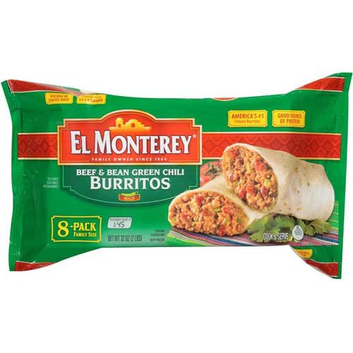 Country Ketchup (El Monterey Beef and Bean Green Chile Burrito, 2 Pound -- 8 per case.)