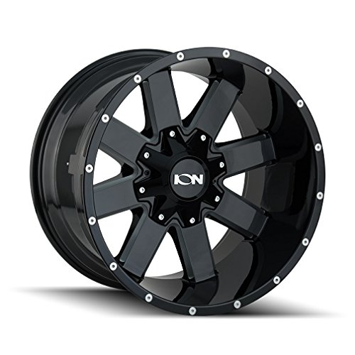 Ion Alloy 141 Gloss Black/Milled Spokes Wheel with Painted Finish (20 x 10. inches /8 x 180 mm, -19 mm Offset)