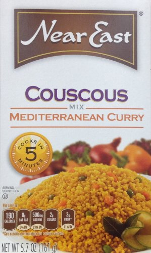 Curry Couscous - Near East, Couscous, Mediterranean Curry Flavor, 5.7oz Box (Pack of 6)