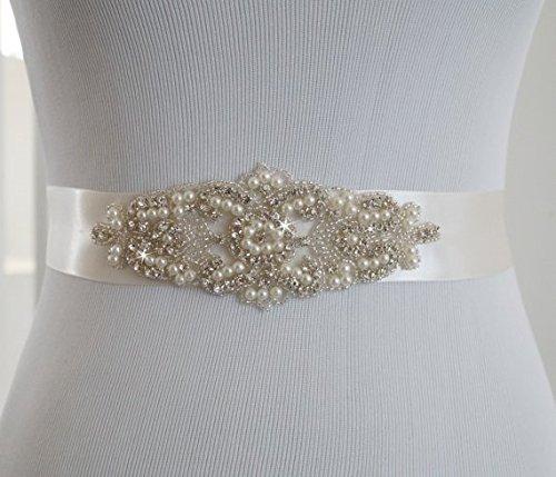 SoarDream Bridal Sash, Wedding Belt, Bridal Belts And Sashes Ivory.