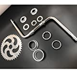 """dolphin1986 2""""Cup Wide Pedal Crank Kit, One-Piece Crank, for 2- Stroke Motor,Gas Motorized Bicycle"""