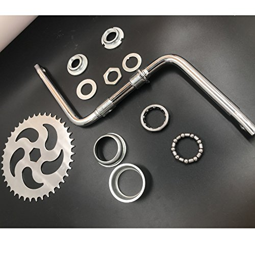 dolphin1986 Wide Pedal Crank Kit, One-Piece Crank for 2 stroke gas motor engine kit,Gas Motorized Bicycle by dolphin1986