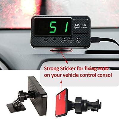 kingneed Original Universal GPS Head Up Display Speedometer Odometer Car Digital Speed Display MPH Over Speeding Alarm Car Clock for All Vehicles C60/C60S/C80/C90 (C60S): Automotive
