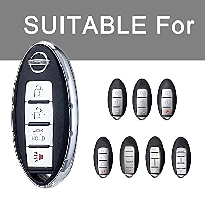 Key Fob Cover for Nissan Infiniti,Soft TPU Key Fob Case All-Around Protector Plating Shell Fit Keyless Smart Remote Key of Nissan Aitime Rogue Sentra Maxima Murano Pathfinder Sedan Infiniti - Red: Automotive