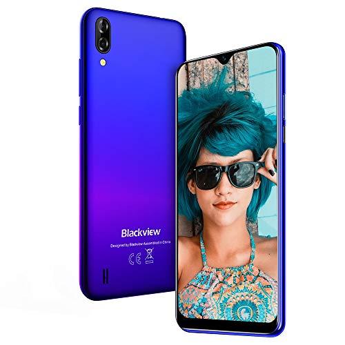 Teléfono Móvil, Blackview A60 Smartphone de 6.1″ (19.2:9) Waterdrop Screen Movil(2020), 16GB ROM, 128GB SD, 13MP+2MP+5MP, Android 8.1 Teléfono Libre Dual SIM, 4080mAh Batería