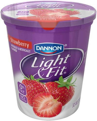 - Light and Fit Quarts Strawberry Greek Nonfat Yogurt, 32 Ounce - 6 per case.
