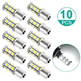 Automotive : Sunnest Super Bright 1156 LED Light bulb, 12V 7506 1003 1141 18-SMD LED Bulbs For Car Rear Turn Signal lights Interior Brake Light Lamp Backup Lamps RV Camper White 10-pack