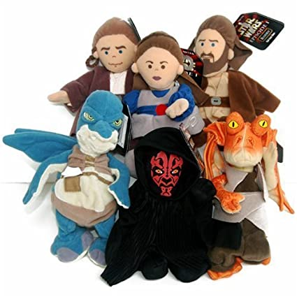 star wars episode 1 buddies qui-gon jin beany  plush Action- & Spielfiguren