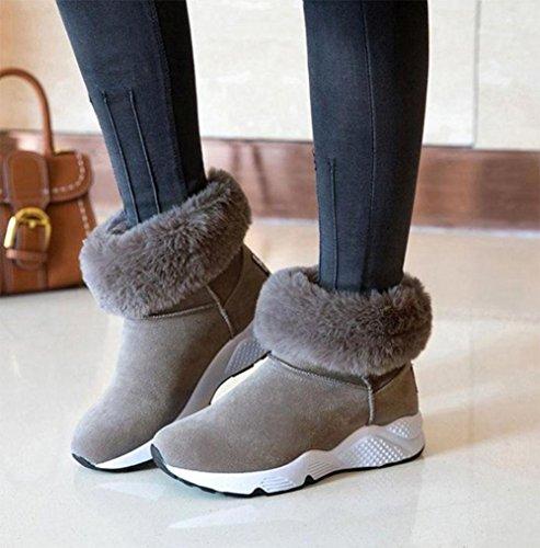 botas cachemira para Zapatos engrosamiento sacudidas zapatos además de de nieve de cálido individuales deportivo de zapatos mujer con zapatos botas botas gray mujer casuales plataforma KUKI gwOqYAO