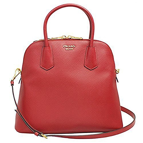 Prada-Red-Saffiano-Leather-Hand-Bag-Wstrap-Bl0902-Fuoco