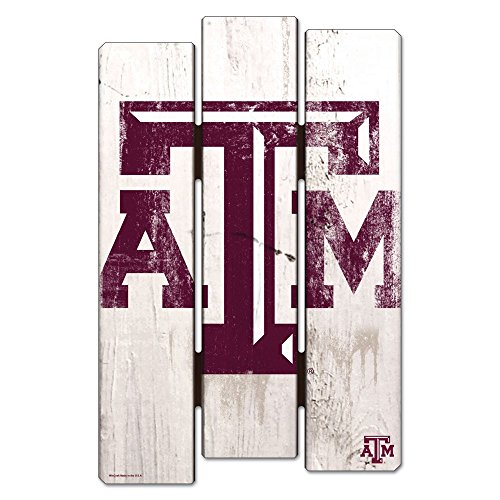 NCAA Texas A&M University Wood Fence Sign, Black Aggies Sign
