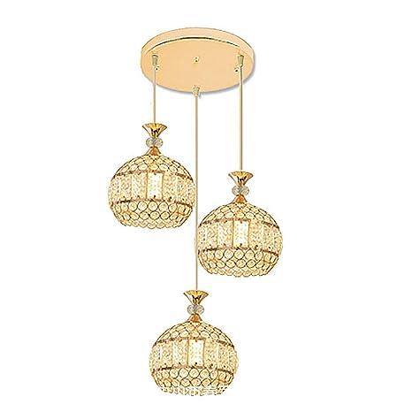 brand new 9f87e 04c24 TopDeng Pendant Light Crystal 3-Lights, E26 Hanging lamp ...