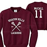 Mars NY Women's Men's Teen Wolf Beacon Hills Lacrosse McCall 11 Sweatshirt (Large)
