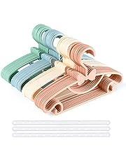 Babyhängare nyfödda, 40 st plasthängare för babykläder med 3 plasthängare, halkfria ultratunna barnhängare, babyhängare för kläder för barn och småbarn kläder - (4 färger)