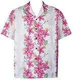 Two Palms Mens Vintage Plumeria Cotton Shirt White 3X