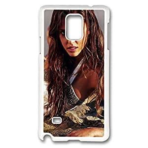 Galaxy Note 4 Case, Creativity Design Jessica Alba Print Pattern Perfection Case [Anti-Slip Feature] [Perfect Slim Fit] Plastic Case Hard White Covers for Samsung Galaxy Note 4