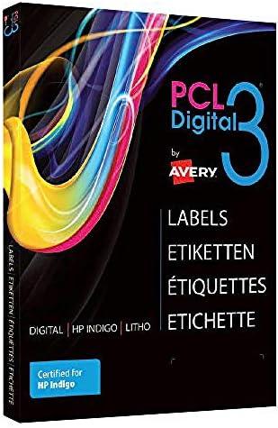 Avery España PCL3-TE.Caja de 100 Etiquetas blancas en Teslin,SRA3 prensa digital: Amazon.es: Oficina y papelería