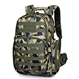 Mardingtop 35L/40L Tactical Backpacks Molle Hiking daypacks for Camping Hiking Military Traveling (Camouflage-0076) For Sale