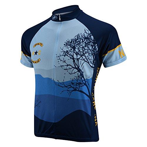 Performance North Carolina Short Sleeve Jersey LARGE BLUE/YELLOW (North Carolina Away Jersey)