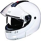 Studds Ninja 3G SUS_N3GDVFFH_WHEXL Full Face Helmet with Double Visor(White, XL)