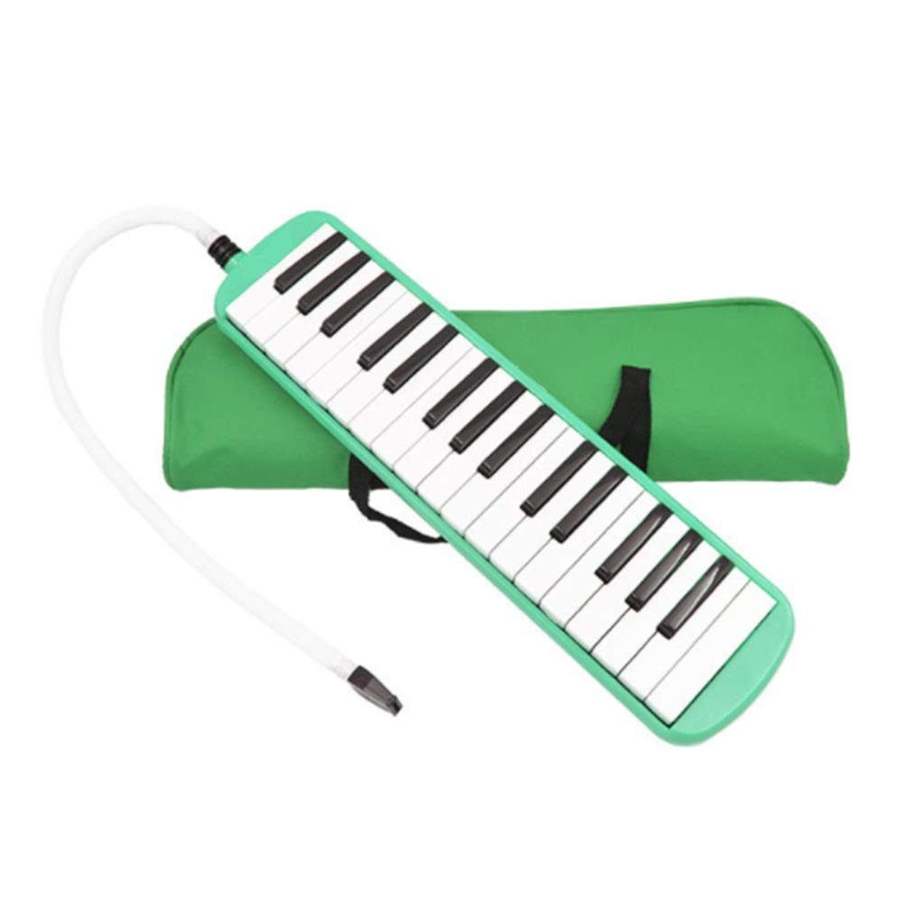 Melodica Musical Instrument Durable ABS 32 Keys Kids Piano Keyboard Style Melodica With Portable Carrying Case Kids Musical Instrument Gift Toys For Music Lovers Beginners 2 Mouthpieces Tube Sets For