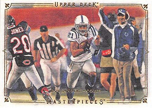 Bob Sanders football card (Indianapolis Colts Super Bowl Champion) 2008 Upper Deck Masterpieces #9 (Autographed Colts Bob Sanders Indianapolis)