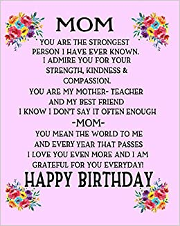 Amazon In Buy Mom Happy Birthday Gift For Mom Poem For Mom Birthday Pink Notebook Mothers Gift From Kids Sentimental Gifts For Mom Book Online At Low Prices In India Mom Happy