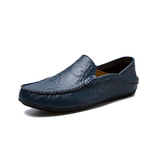 GBY Hombre Que Conduce holgazán Ocasional OX Cuero Suela Suave Color sólido Resbalón en el Ocio Ocio Mocasines Zapatos de Vestir: Amazon.es: Zapatos y ...
