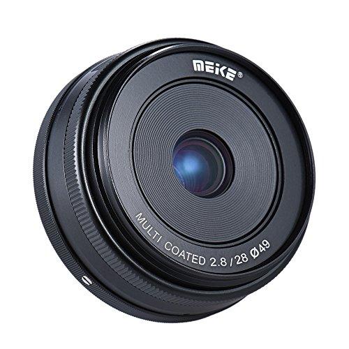 MEIKE 28mm F2 8 大口径 マニュアルフォーカス APS-C カメラレンズ ソニー E マウント NEX3 NEX5 NEX6 NEX7 A5000 A5100 A6000 A6100 A6300用 ILDC コンパクト システム ミラーレス カメラ用 MK-E-28-2 8