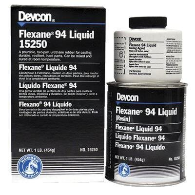 Devcon 15250 Black Flexane 94 Liquid, 1 lb, 16 oz.