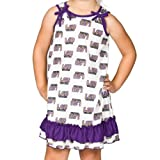 Louisiana State LSU Tigers Little Girls Tie Top Gown, Size 6x