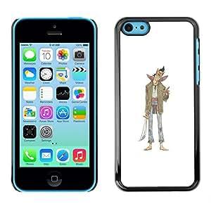 "For Apple iPhone 5C Case , Mal Carácter Sonrisa Espada Arte Dibujo"" - Diseño Patrón Teléfono Caso Cubierta Case Bumper Duro Protección Case Cover Funda"