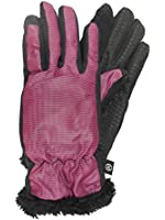 Isotoner Smart Touch Womens Berry Pink Micro-Check Tech & Text Gloves Smartouch