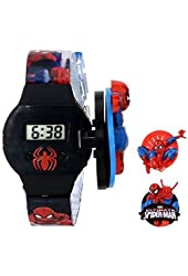 Licensed Marvel Spiderman® Kids Digital Display Quartz Blue Watch