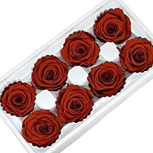 Witch-House Artificial Flowers Rose Artificielle 4-5CM Preserved Eternal Roses Box Newyear Valentine's Gifts Forever Everlasting Rose 5