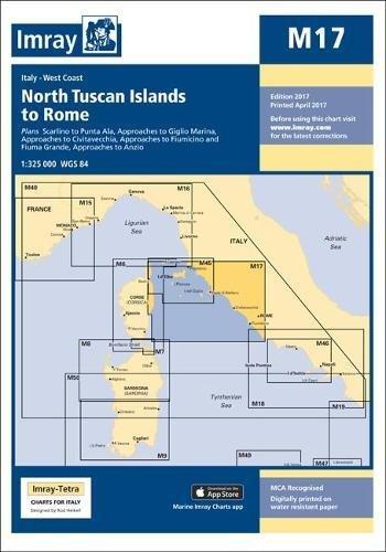 Imray Chart M17: North Tuscan Islands to Rome (M Series) (Tuscan Series Island)