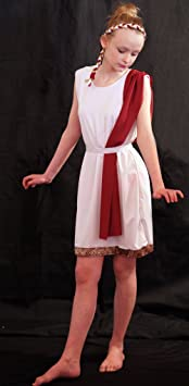 World Book day ANCIENT ROME/GREEK Slave Girl Costume with Burgundy Shoulder Drape AGE 9-10 - CHEST 28-30 WAIST 26-28 Amazon.co.uk Toys u0026 Games  sc 1 st  Amazon UK & World Book day ANCIENT ROME/GREEK Slave Girl Costume with Burgundy ...